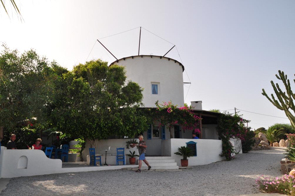 Café Große Mühle auf der Kéfalos Halbinsel