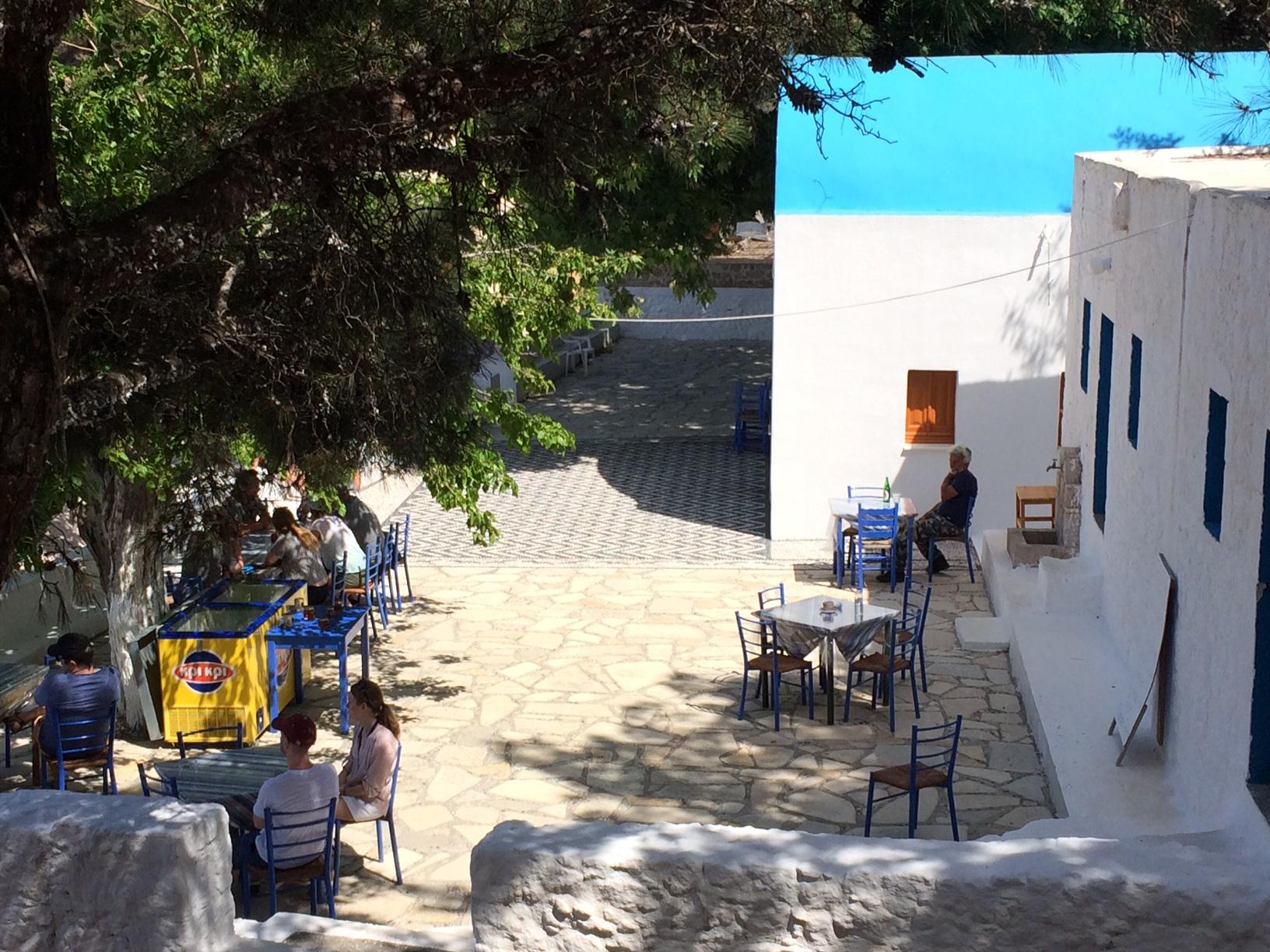 Café im Kloster Ágios Ioánnis