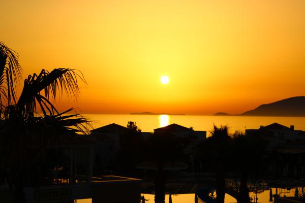 Sonnenuntergang bei Marmári